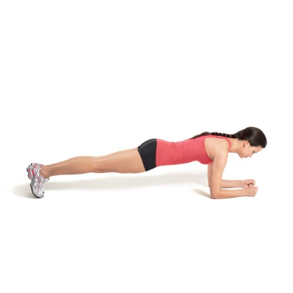 Tighten flabby abs